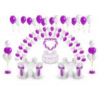 Пакет праздничный супер (200 шаров + сердце), , 10500 р., Пакет праздничный супер , , Оформление шарами