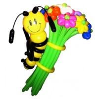 """Цветы из шаров """"Пчелка на цветах"""" 21 шт., , 3300 р., Цветы из шаров """"Пчелка на цветах"""" 21 шт., , Цветы из шаров"""