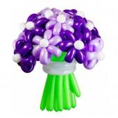 "Цветы из шаров ""Фиолетовая дымка"" 25 шт."