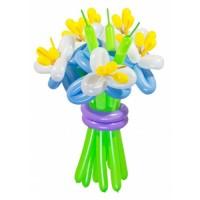 """Цветы из шаров """"Синие ирисы"""" 11 шт., , 2700 р., Цветы из шаров """"Синие ирисы"""" 11 шт., , Цветы из шаров"""