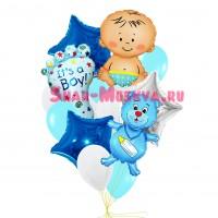 """Композиция из шаров """"Для мальчика"""", , 2990 р., композиция для мальчика, , Композиции из шаров"""