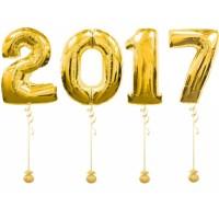 """Композиция из фольгированных шаров """"2017"""", , 3990 р., надпись 2017, , Композиции из шаров"""