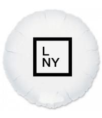 """Надпись на шарах 45 см. 1 шт (Цвет шара, логитип на Ваш выбор"""""""