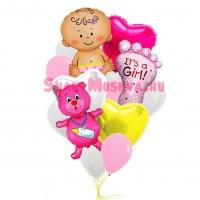 """Композиция из шаров """"Для девочки"""", , 2990 р., Композиция для девочки, , Композиции из шаров"""