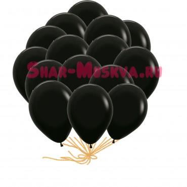 "Шары с гелием  ""BLACK"" (30 см) 25 шт."