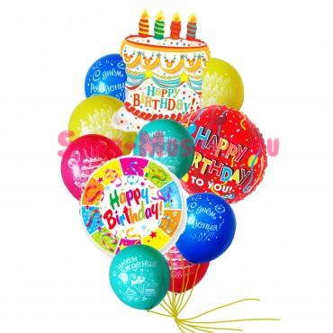 """Композиция из шаров """"С Днём рождения"""""""