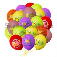 """Шары с гелием """"Sponge bob """" (35 см) 25шт., , 2090 р., sponge bob, , Шары с гелием"""