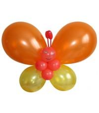 """Фигура из шариков """"Оранжевая бабочка"""""""