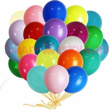 """Шары с гелием  """"Ассорти"""" (30 см) 25 шт. , 25 разных цветов"""