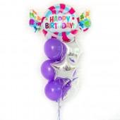"""Композиция из шаров на день рождения """"Candy"""" 10 шт."""