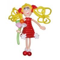 """Фигура из шариков """"Девочка в карасном платье"""""""