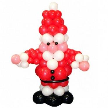 """Фигура из шаров """"Дед Мороз"""""""