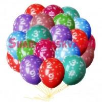 """Шары с гелием """"Цифры"""" (35 см) 25 шт., , 2090 р., цифры, , Шары с гелием"""