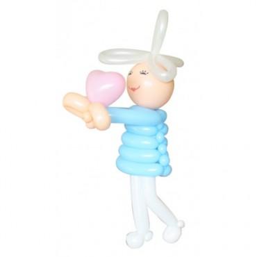 """Фигура из шаров """"Девочка с сердцем"""""""