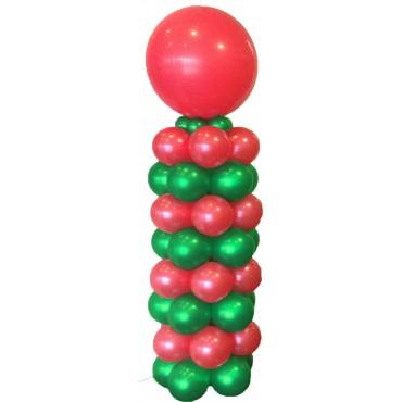 Стойка новогодняя из  шаров 2 цвета + метровый шар