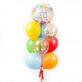 "Композиция из шаров ""Сфера Happy Birthday"" 10шт"