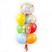 """Композиция из шаров """"Сфера Happy Birthday"""" 10шт, , 1990 р., Сфера """"Happy Birthday"""", , Композиции из шаров"""