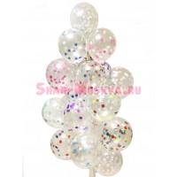 """Воздушные шары """"Разноцветное конфетти""""  19 шт., , 2690 р., Разноцветное конфетти, , Влюблённым"""
