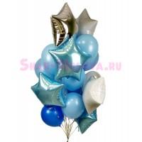 """Композиция из шаров """"Звездный фонтан"""", , 2690 р., Композиция из шаров """"Звездный фонтан"""", , Композиции из шаров"""