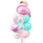 """Композиция из шаров """"Фламинго"""" 15 шт."""
