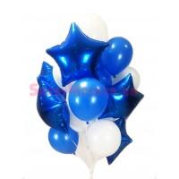 """Композиция из шаров """"Синее море"""", , 2290 р., Композиция из шаров """"Синее море"""", , Композиции из шаров"""