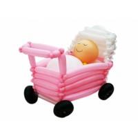 """Фигура из шаров """"Младенец в коляске"""""""