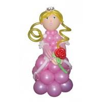"""Фигура из шариков """"Принцесса с розой"""""""