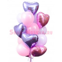 """Композиция из шаров """"Сереневая нежность"""", , 2390 р., Сереневая нежность, , Влюблённым"""
