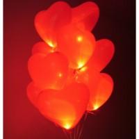 Светящиеся сердца с гелием большие (40 см) 15 шт. , , 3490 р., Светящиеся сердца с гелием большие , , Влюблённым