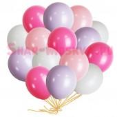 """Шары с гелием """"Розовый букет""""  (30 см) 25 шт. 4 цв."""