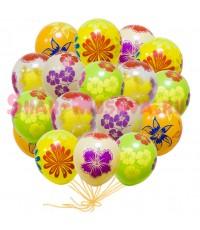 """Шары с гелием """"Осенние цветы"""" (35 см) 25 шт."""