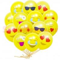 """Шары с гелием """"Эмодзи Смайлы"""" (30 см) 25 шт., , 2390 р., Smiles, , Шары с гелием"""