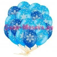 """Шары с гелием """"Новогодние снежинки"""" (35 см) 25 шт., , 2390 р., snowball, , Шары с гелием"""