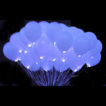 """Светящиеся шары с гелием """"Белые Vip"""" (35 см) 25 шт."""