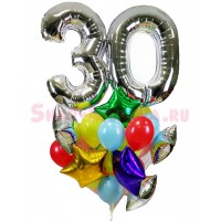 """Композиция из шаров """"Праздничная дата2 + 25 шаров"""", , 4090 р., Композиция из шаров """"Праздничная дата2"""", , Композиции из шаров"""