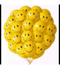 "Шары с гелием ""Смайлы улыбки"" (35 см) 25 шт."