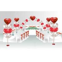 """Пакет для оформления свадебного зала """"Сердца любви"""", , 7500 р., Пакет для оформления свадебного зала """"Сердца любви"""", , Оформление шарами"""