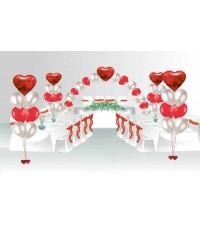 """Пакет для оформления свадебного зала """"Сердца любви"""""""