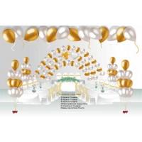 """Пакет для оформления свадебного зала """"Счастливые мгновенья"""", , 7200 р., Пакет для оформления зала """"Счастливые мгновенья"""", , Оформление шарами"""