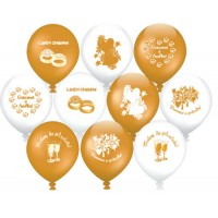 Шары с гелием 30 см к Gold Свадебные 25 шт., , 2190 р., Шары с гелием 30 см к Gold Свадебные, , Свадьба